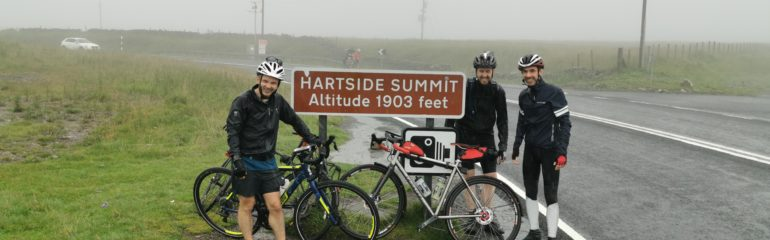 Cyclists at Hartside Summit